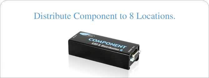 1x8 Component CAT5 Distribution R - EXT-COMP-CAT5-