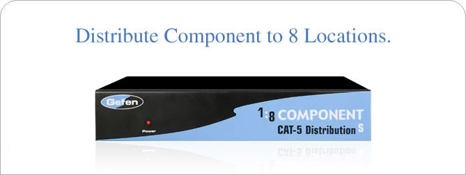1x8 Component CAT5 Distribution S - EXT-COMP-CAT5-