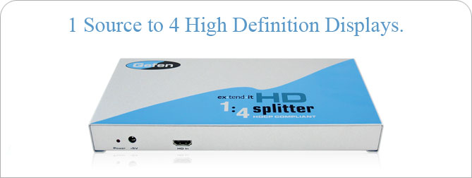 1:4 HD Splitter - EXT-HD-144