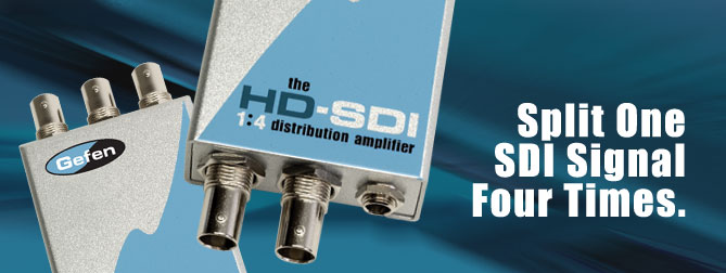 1x4 HD-SDI Distribution Amplifier - EXT-HDSDI-144