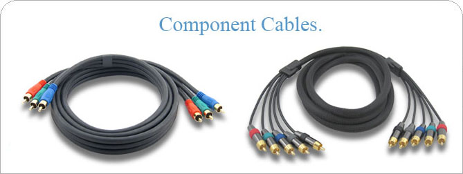 6 ft 3 RCA Component Cable (M-M)