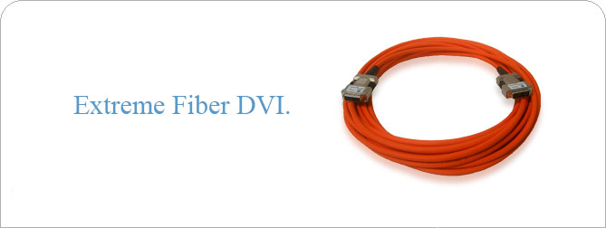 HDTV DVI-D Fiber Optic Cable 166 ft (M-M)