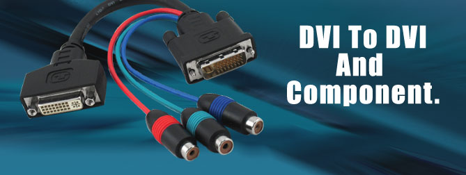 DVI to DVI and Component Adapter