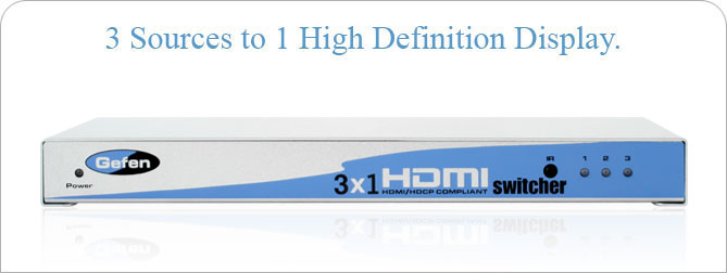 3x1 HDMI Switcher - EXT-HDMI-341