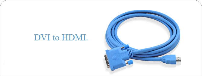 DVI to HDMI Cable 10 ft (M-M) - CAB-DVI2HDMI-10MM